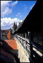 The well preserved ramparts. Rothenburg ob der Tauber, Bavaria, Germany (color)