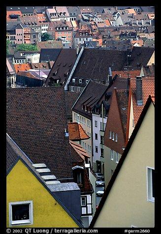 Old town rooftops. Nurnberg, Bavaria, Germany (color)
