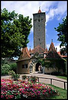 Rampart Tower. Rothenburg ob der Tauber, Bavaria, Germany (color)