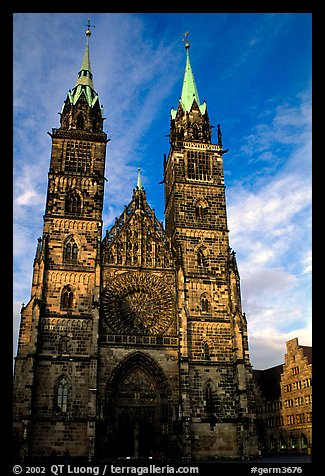 Sankt Lozenz Kirche (cathedral). Nurnberg, Bavaria, Germany (color)