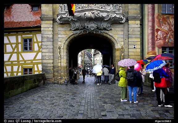 Rainy afternoon, Bamberg. Bavaria, Germany (color)