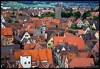 Rooftops seen from the Rathaus tower. Rothenburg ob der Tauber, Bavaria, Germany ( color)