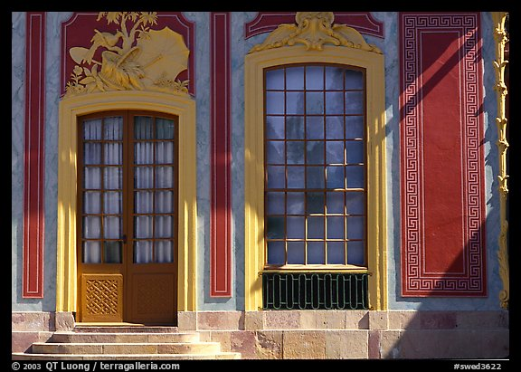 Gate and window, royal residence of Drottningholm. Sweden (color)
