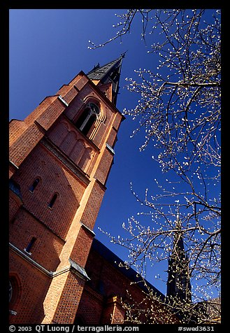 Cathedral in French gothic style, Uppsala. Uppland, Sweden