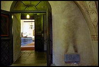 Interior of 12th century Church of Gamla Uppsala. Uppland, Sweden ( color)