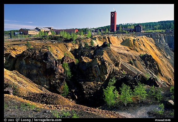 Copper mine pit Falu Koppargruva. Central Sweden (color)