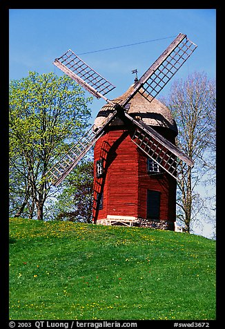 Windmill. Gotaland, Sweden (color)