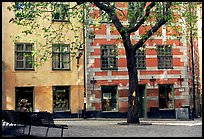 Small plaza in Gamla Stan. Stockholm, Sweden (color)