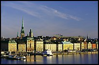 View of Gamla Stan across Salsjon. Stockholm, Sweden ( color)