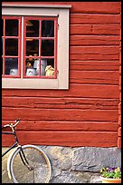 Bicycle and window. Stockholm, Sweden
