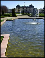 Basin in royal residence of Drottningholm. Sweden (color)