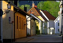 Streets in old town, Vadstena. Gotaland, Sweden ( color)