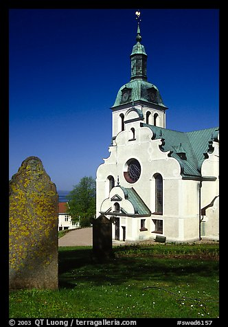 Church near Granna. Gotaland, Sweden (color)