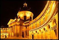 Institut de France at night. Quartier Latin, Paris, France