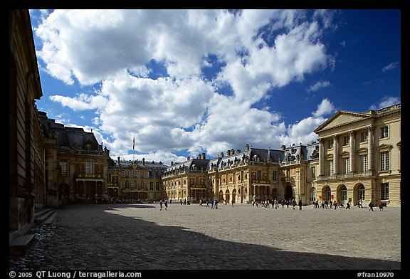 Entrance court of the Versailles Palace. France (color)