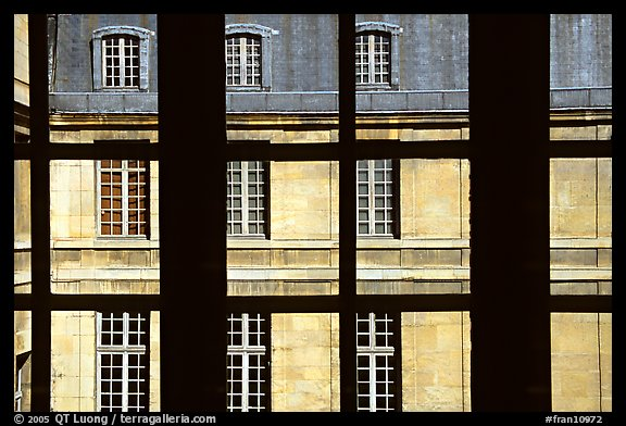 Versailles Palace walls seen from a window. France (color)