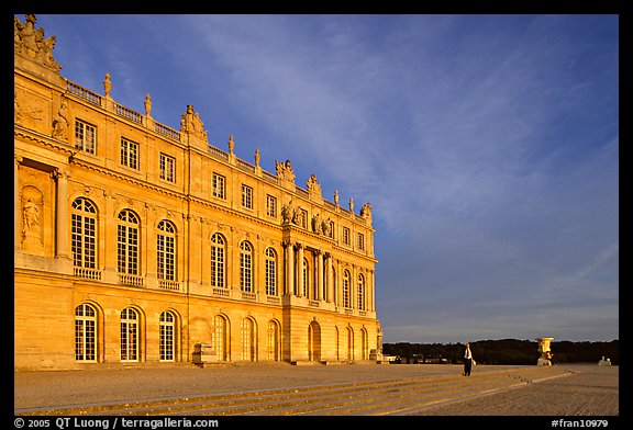 Palais de Versailles, sunset. France (color)