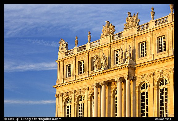 Detail of facade, late afternoon. France (color)