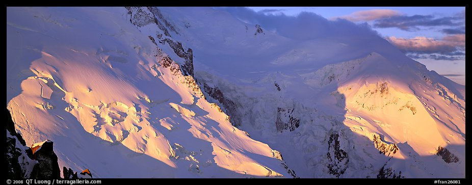 High mountain scenery, North Face of Mont-Blanc. France (color)