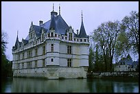 Azay-le-rideau chateau. Loire Valley, France ( color)