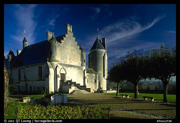 Loches palace. Loire Valley, France (color)