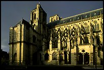 Bourges Cathedral before storm. Bourges, Berry, France