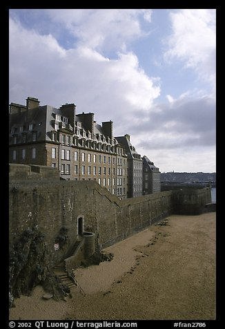 Ramparts of the old town, Saint Malo. Brittany, France (color)