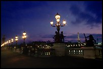 Pont Alexandre III at night. Paris, France