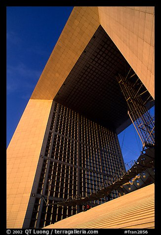 Detail of Arche de la Defense. France (color)