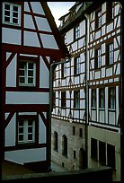 Half-timbered houses. Strasbourg, Alsace, France ( color)