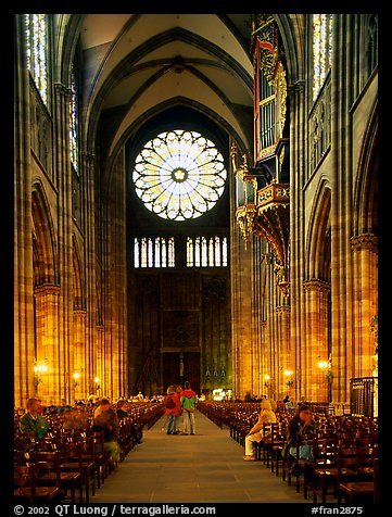 Inside the Notre Dame cathedral. Strasbourg, Alsace, France (color)
