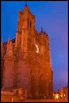 Cathedral at dusk, Amiens. France ( color)