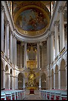 Chapel of the Versailles palace. France
