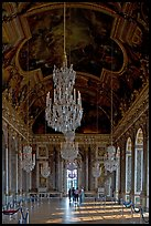 Gallerie des glaces room, Versailles Palace. France ( color)