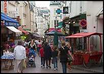 Rue Mouffetard. Quartier Latin, Paris, France (color)