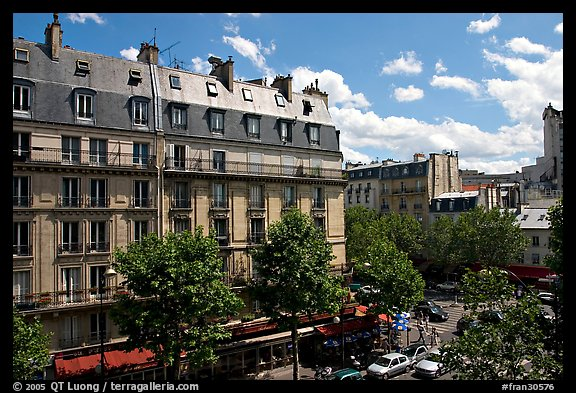 Typical appartment buildings. Paris, France (color)