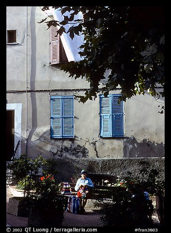 Street scene in Vallauris. Maritime Alps, France (color)