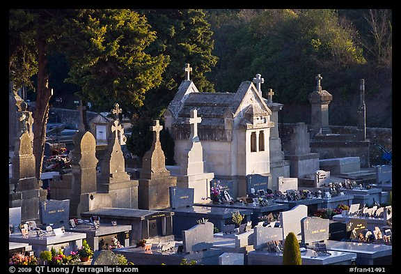 Cemetery. Carcassonne, France (color)