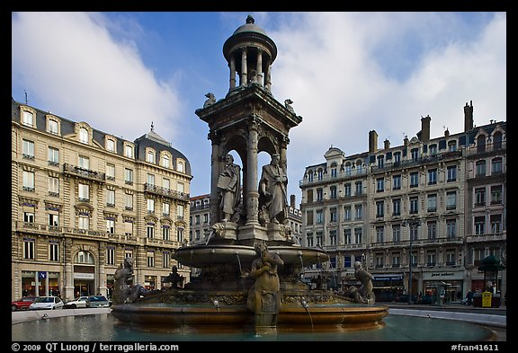 Place des Jacobins. Lyon, France (color)