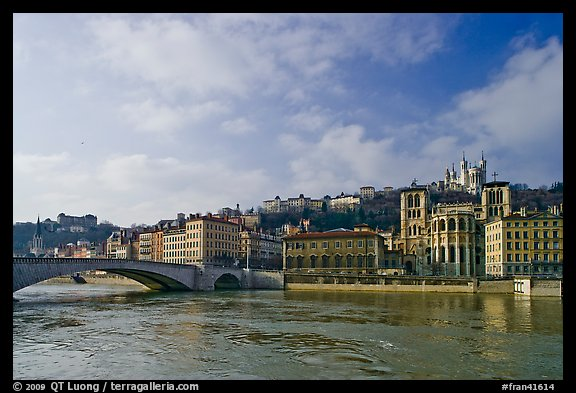 Saone River and Old Town. Lyon, France (color)