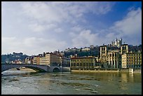 Saone River and Old Town. Lyon, France ( color)