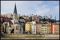 Church Saint George and Fourviere Hill. Lyon, France ( color)