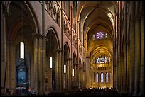 Nave of Saint Jean Cathedral. Lyon, France ( color)