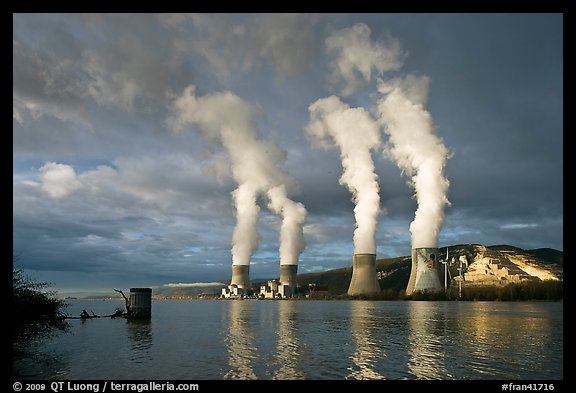 Atomic Power Station with four pressurized water reactors. Provence, France (color)
