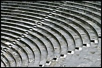 Tiered seats arrranged in a semi-circle, Orange. Provence, France