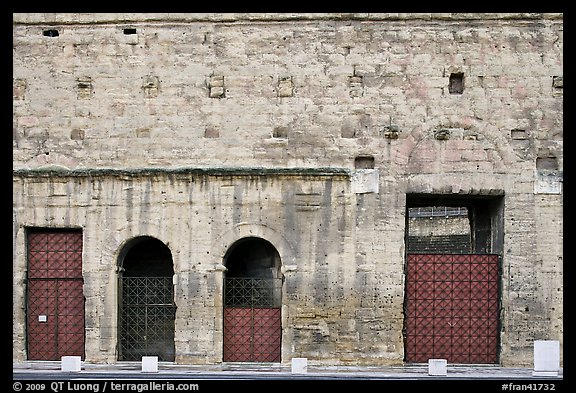 Facade detail, Roman Theater. Provence, France (color)