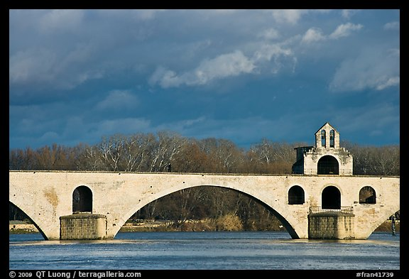 St Benezet Bridge (Pont d'Avignon). Avignon, Provence, France (color)