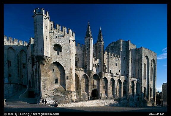 Palace of the Popes. Avignon, Provence, France (color)