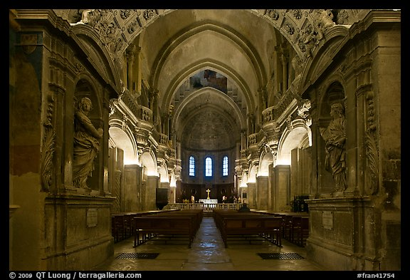 Inside the Cathedral of Notre-Dame-des-Doms. Avignon, Provence, France (color)