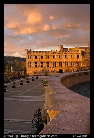 Petit Palais at sunset. Avignon, Provence, France (color)